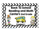 Back To School Reading and Math Centers for 2nd Grade