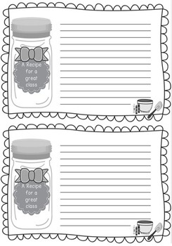 Back To School Recipe Poem and Activity