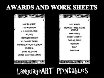 Awards and Worksheets - Printables for Your Classroom