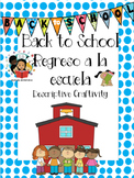 Back To School / Regreso a la escuela- Descriptive Writing Craftivity - Spanish