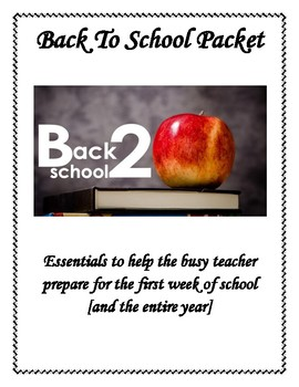 Back To School Resources, Letters, Bulletin Boards, and Games