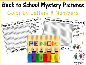 Back To School Reveal Mystery Picture: Color By Number & Letter