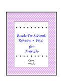 Back-To-School Review * Pac For French