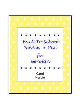 Back-To-School Review * Pac For German