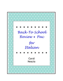 Back-To-School Review * Pac For Italian