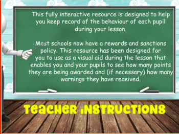 Back To School : Rewards and Sanctions Chart INTERACTIVE!