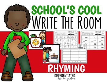 Back To School Rhyming Write the Room - Differentiated and