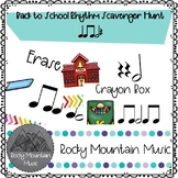 Back To School Rhythm Scavenger Hunt