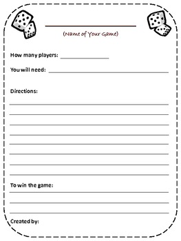 "Back To School ""Rules"" Game"