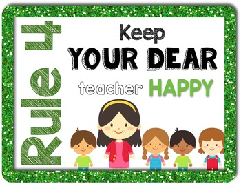 Back To School Rules Posters!