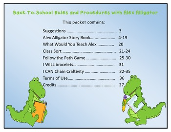 Back-To-School Rules & Procedures with Alex Alligator