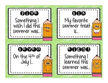 Back To School SCOOT - Summertime Memories