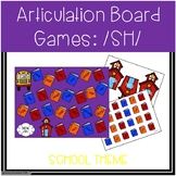Back To School /SH/ Articulation Board Games