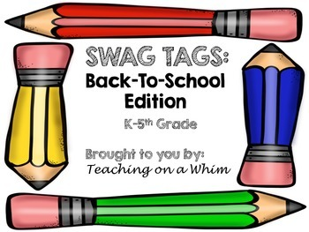 Back To School SWAG TAGS Brag Tags