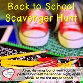 Back To School Scavenger Hunt - Editable!