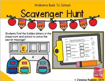 Back To School Scavenger Hunt