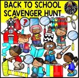 Back To School Scavenger Hunt Clip Art Set {Educlips Clipart}
