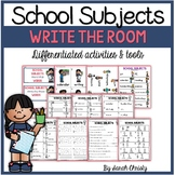 Back To School: School Subjects Write the Room
