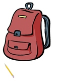 Back To School School Supplies Folder activity