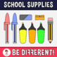 Back To School - School Supplies Pack Clipart