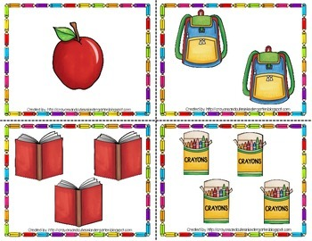 Back To School & School Supply Theme Count the Room for 1-10