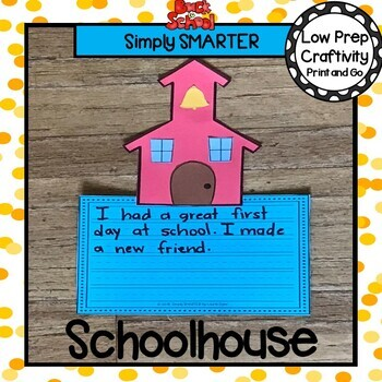 Back To School Schoolhouse Writing Cut and Paste Craftivity
