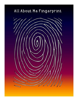 Back To School: Science All About Me Fingerprint Activity | TpT