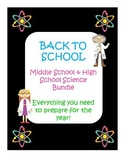 "Back To School Science Bundle ""ALL EDITABLE"""