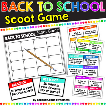 "Back To School Scoot Game ""Getting To Know Your Classmates"""