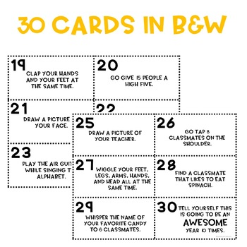 Back To School Scoot Game (30 Task Cards!)