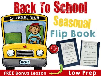 Back To School Seasonal FLIPBOOK- FREE BONUS LESSON