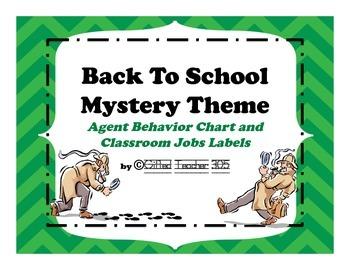 Back To School Secret Agent Behavior Chart & Class Jobs