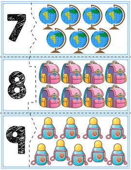 Back To School Self Correcting Number Puzzles 1-20