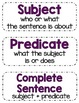 Sentence Sort Activity Pack - Back to School Theme
