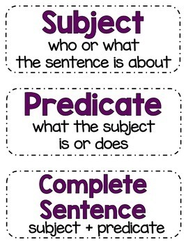 Back to School Sentence Activity Pack