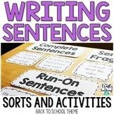 Sentence Writing Activities | Back to School Theme