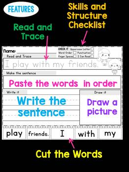 Back To School Sentence Scramble Worksheets