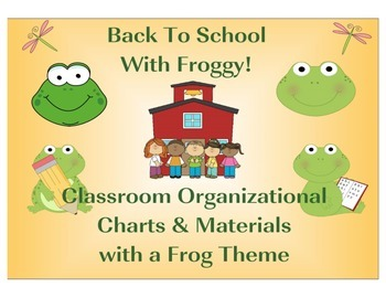 Back To School Set Frog Theme Sample