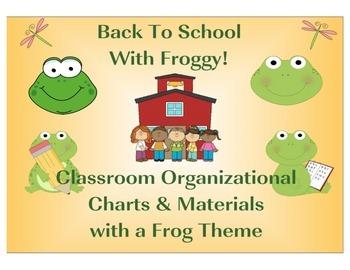 Back To School Set Frog Theme Sample