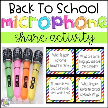 Back To School Share Activity: Get To Know You Microphone Shares