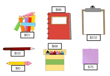 Back To School Shopping Spree Center Activity [CCSS]