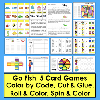 Sight Word Memory, 123 Redlight, Roll & Read, and Follow the Path Activities