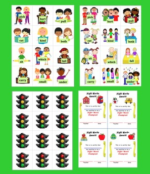 Back to School Activities: Sight Words-10 Sets Memory,123 Redlight! & More Set 2