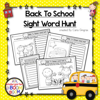 Back To School Sight Word Hunt