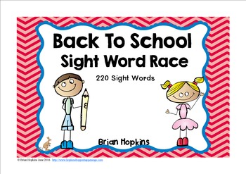 Back To School Sight Word Race