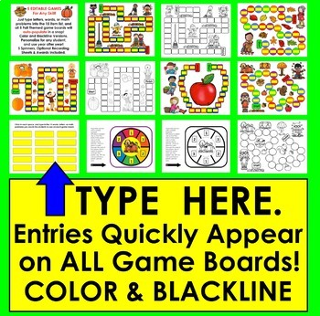 FALL Literacy Center: Sight Words Game Boards Set 2 (2nd half of Dolch words)