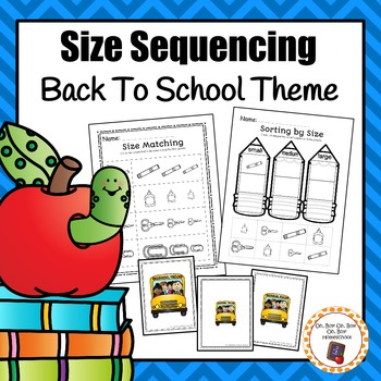 Back To School Size Sequencing Activities