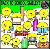 Back To School Smileys Clip Art Set {Educlips Clipart}