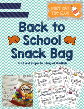 Back To School Snack Bags
