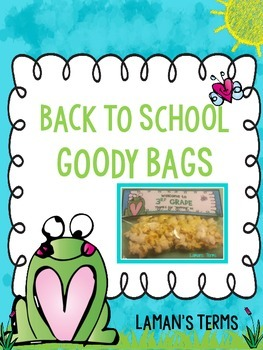 Back To School Snack Bags Frog Theme